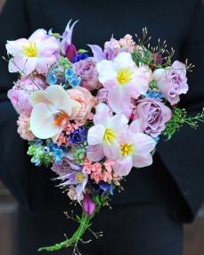 Aranjament floral A pink heart