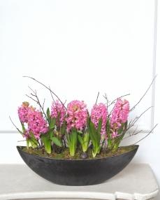 A pink spring arrangement