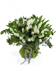 Bouquet 101 white tulips