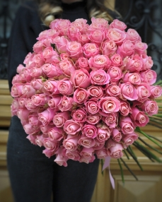 Bouquet 101 pink roses