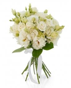 Bouquet 11 white lisianthus