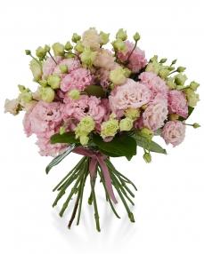 Buchet 11 lisianthus roz