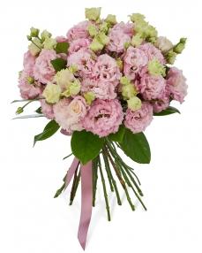 Bouquet 15 pink lisianthus