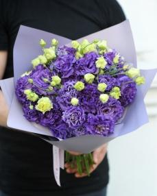 Bouquet 15 purple lisianthus