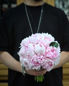 Buchet 21 bujori roz