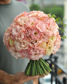 Bouquet 21 peach lisianthus