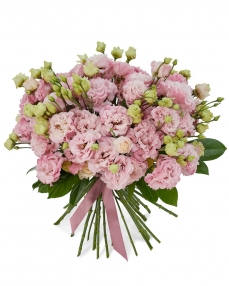 Buchet 21 lisianthus roz