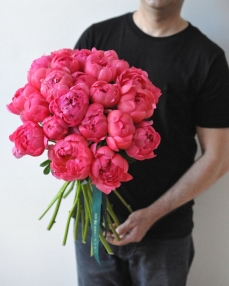 Bouquet 25 coral peonies