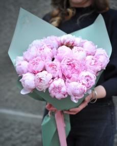 Bouquet 25 pink peonies