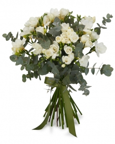 Bouquet 25 white freesias