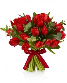 Buchet 25 lalele rosii