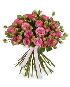 Bouquet 29 pink spray roses