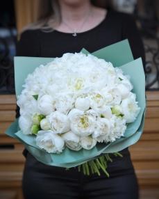 Bouquet 51 white peonies