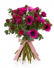 Bouquet with 25 cyclam anemones.
