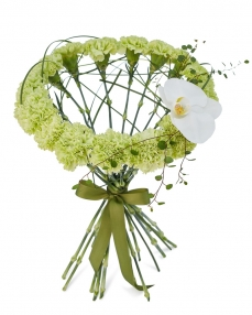 Bouquet with green dianthus