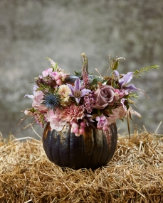 Floral arrangement Autumn in shades of lilac
