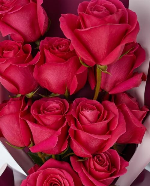 Buchet 11 trandafiri cyclam