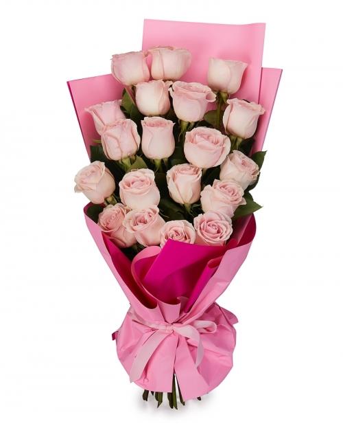 Buchet 19 trandafiri roz