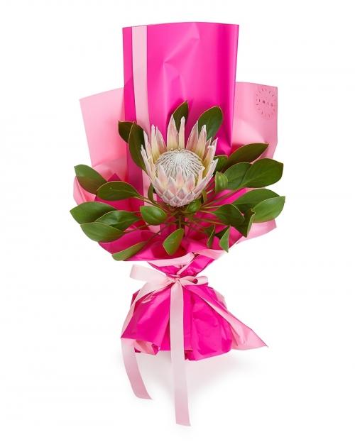 Bouquet pink protea