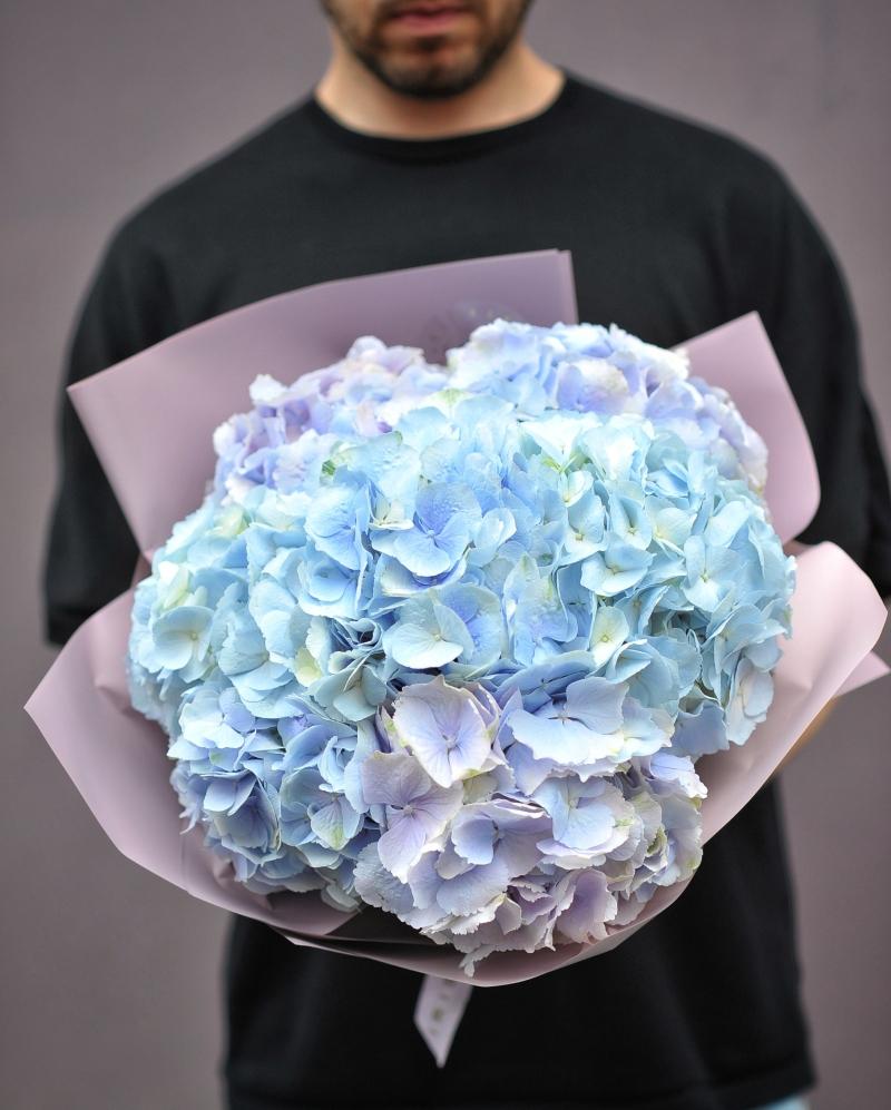 Buchet 5 hortensii albastre