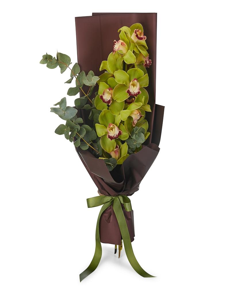 Buchet orhidee verde