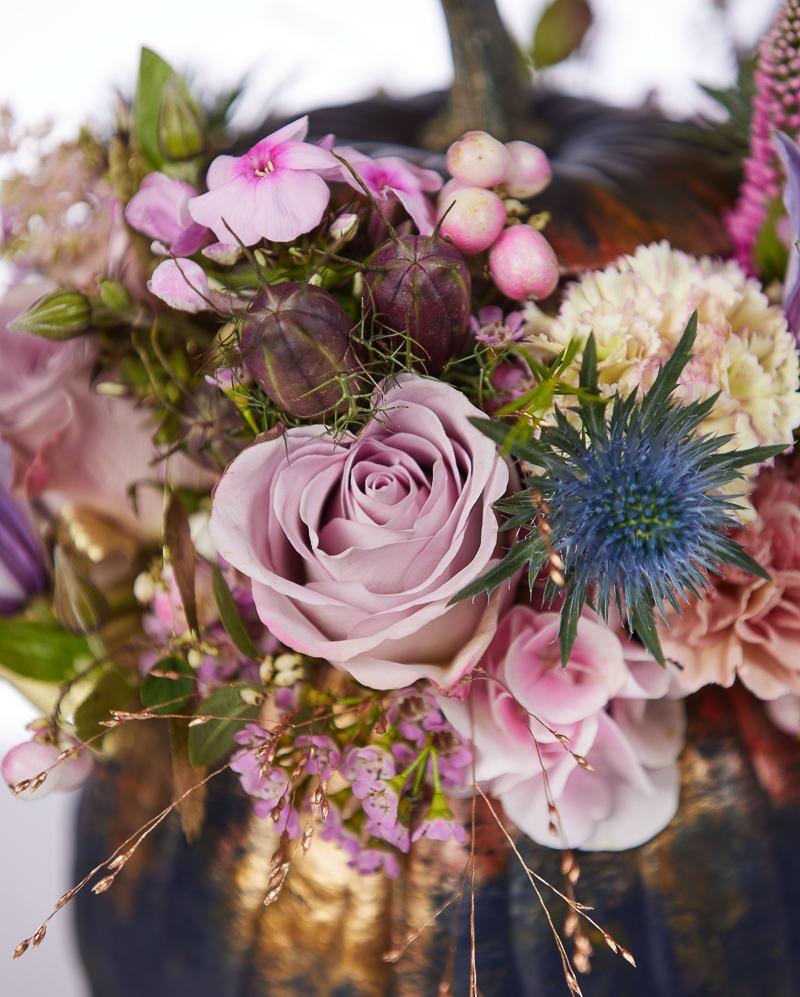 Aranjament floral Toamna in nuante lila