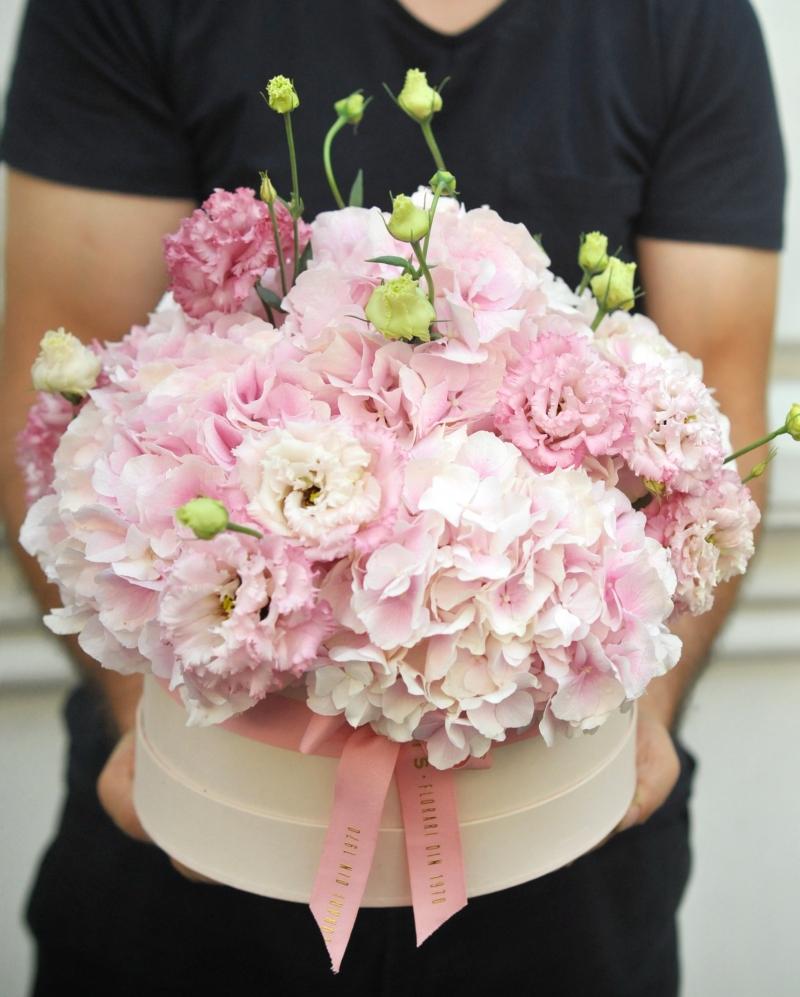 Aranjament floral Viata in roz